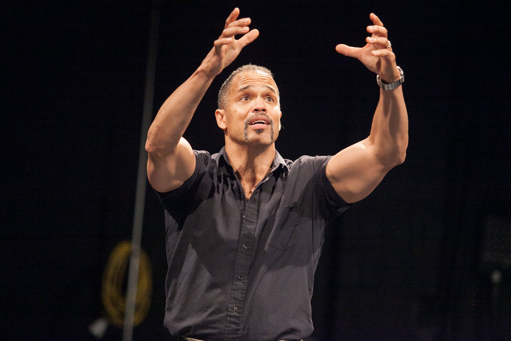 "Photo courtesy of Chris Lang  Keith Hamilton Cobb acts in ""American Moor,"" showing this weekend."