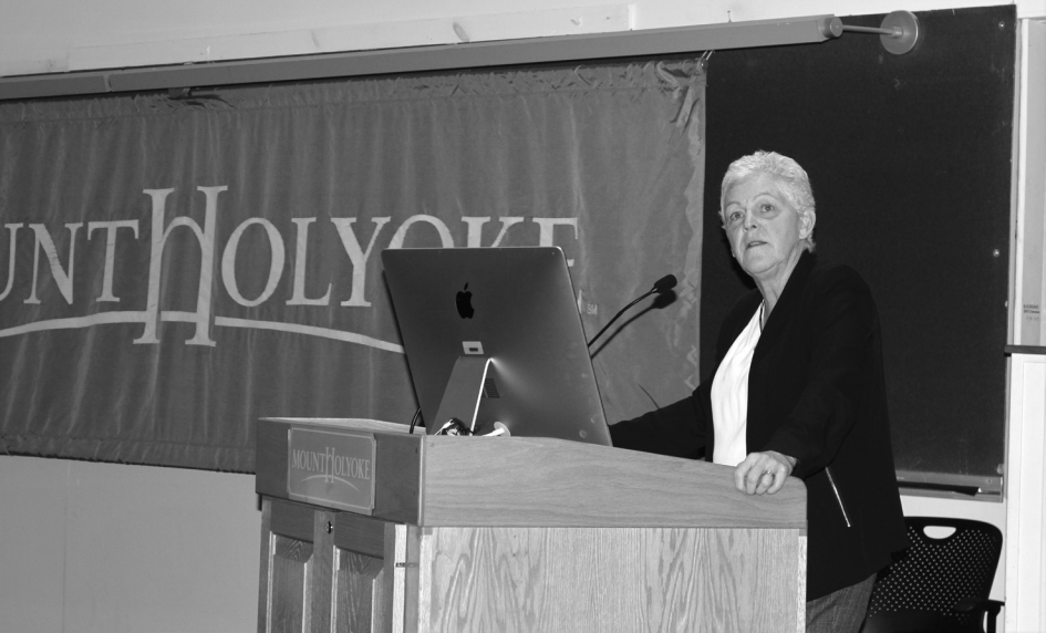 Photo courtesy of Amelia Green '20   Gina McCarthy, the former administrator of the Environmental Protection Agency, spoke on campus on Nov. 8