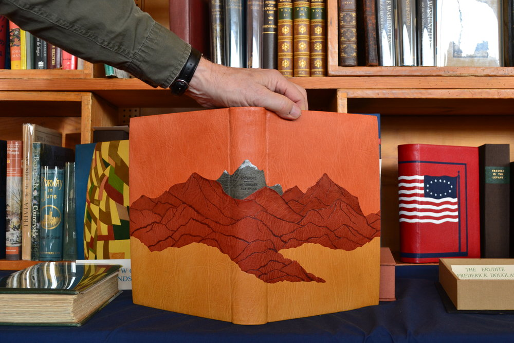 Photo courtesy of Flannery Langton '22   A display from Craftsbury Antiquarian Books' stand