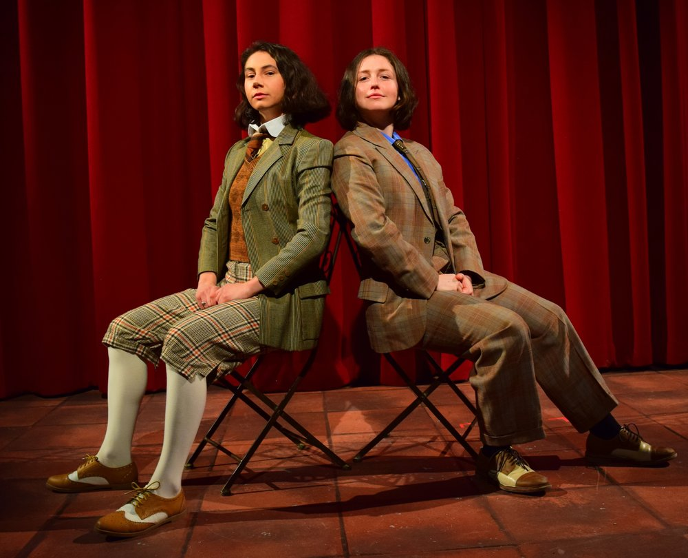 """Photo courtesy of Lara Dubin   Dale Leonheart '19 and Martha Kent '21 performed in Oscar Wilde's classic play """"The Importance of Being Earnest"""" last weekend."""