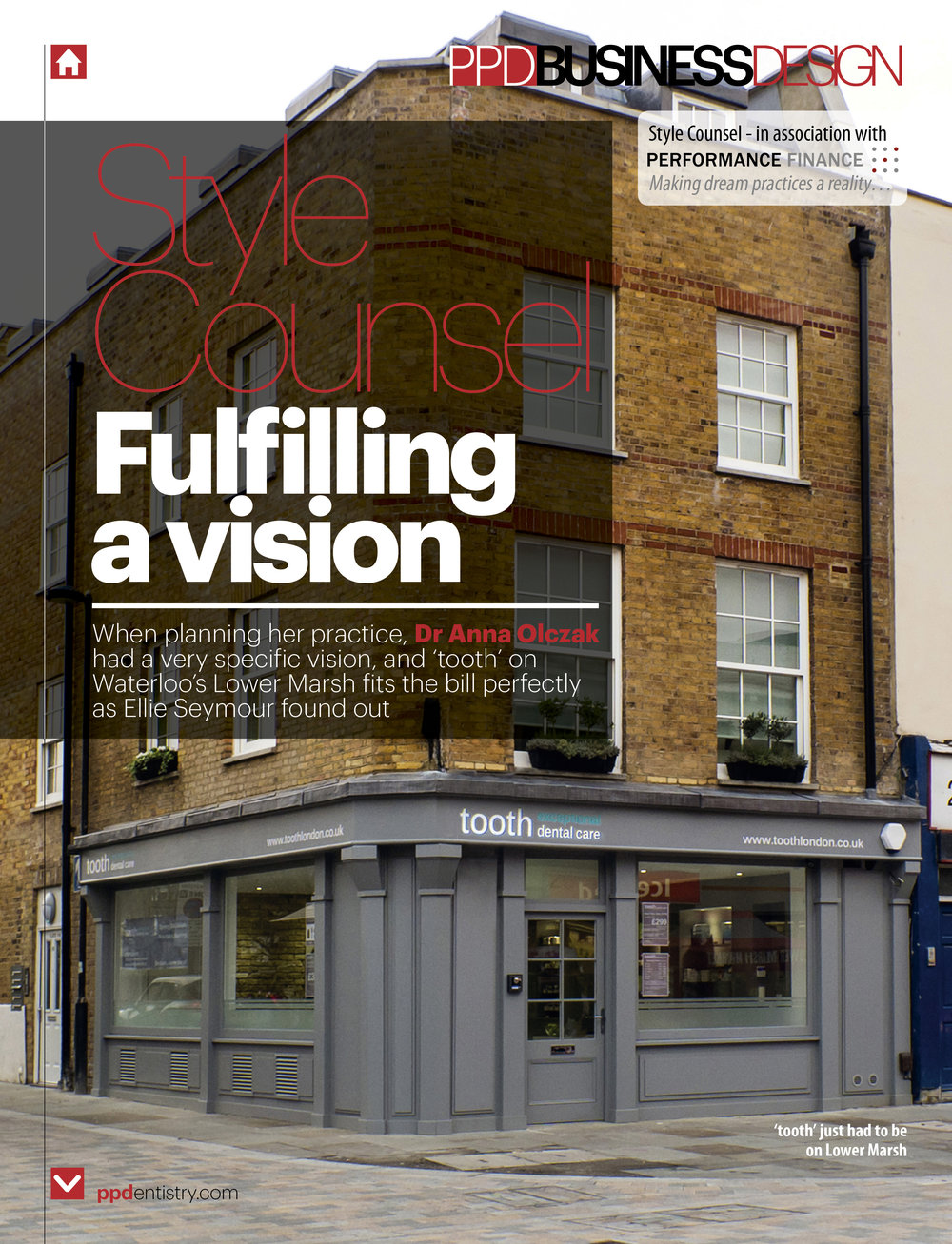 tooth dental surgery, waterloo, London feature in PPD Magazine