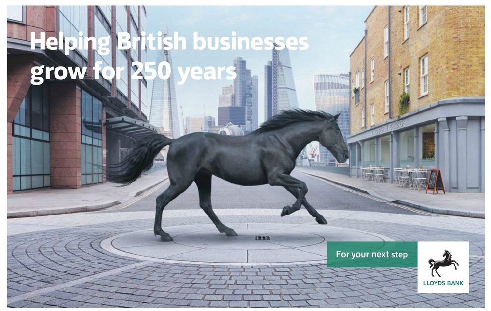 tooth exterior used for Lloyds Bank national advertising campaign