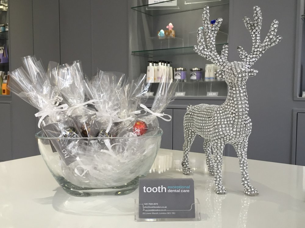 Christmas at tooth dental surgery and hygienist in waterloo, london