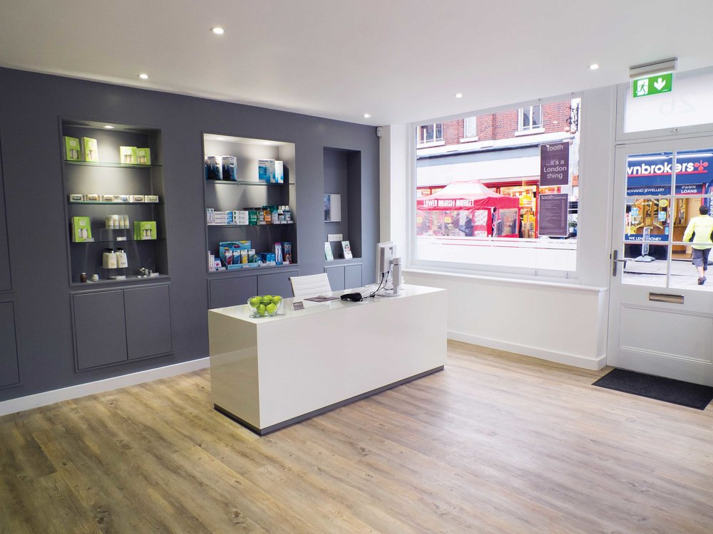 reception at tooth dental surgery in waterloo london
