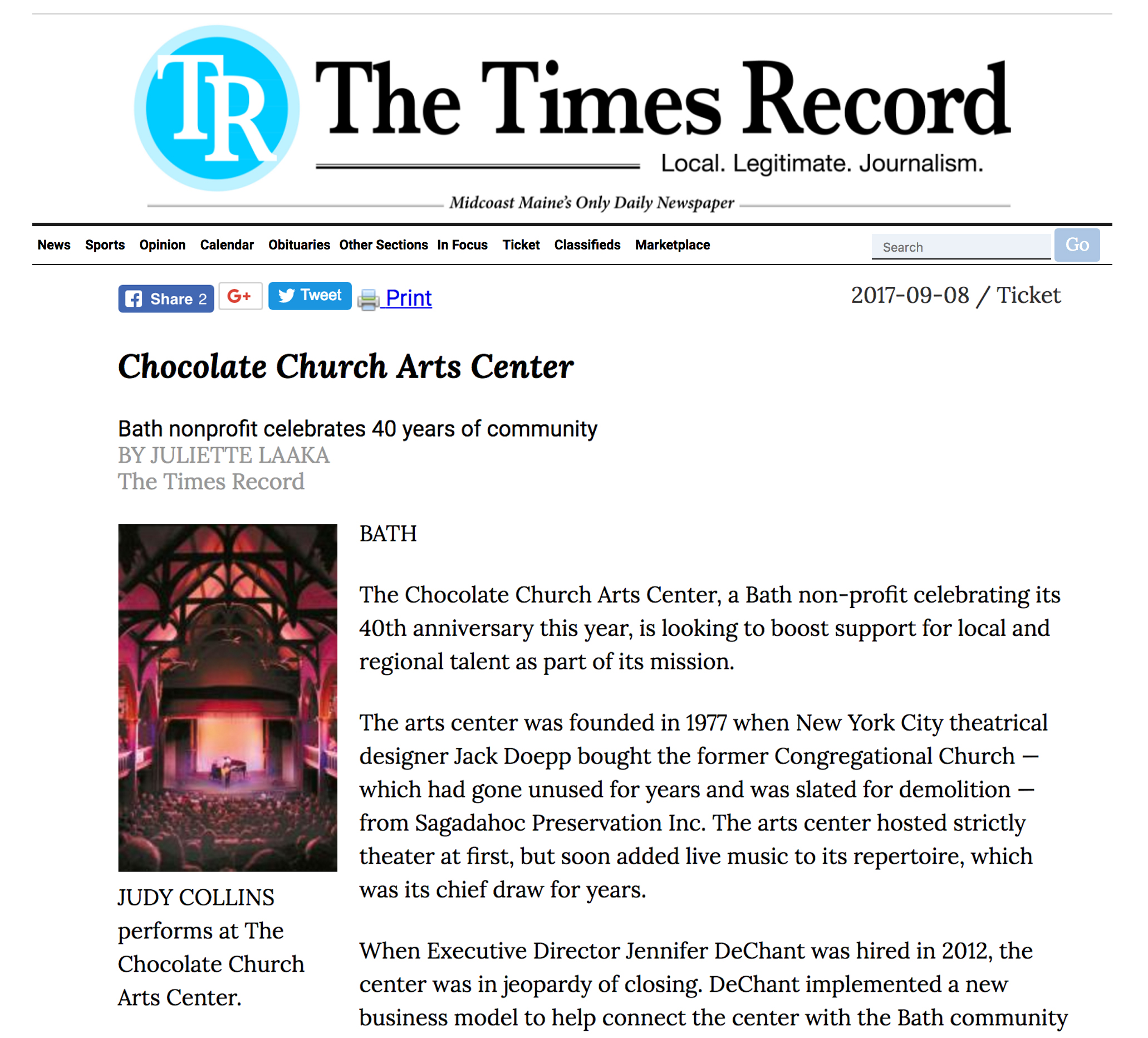 Bath Nonprofit Celebrates 40 Years Of Community U2014 The Chocolate Church Arts  Center