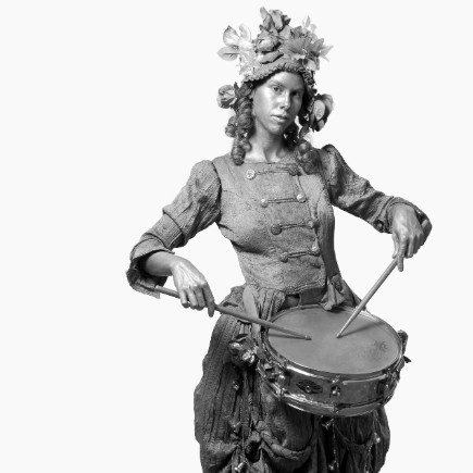The silver drummer girl