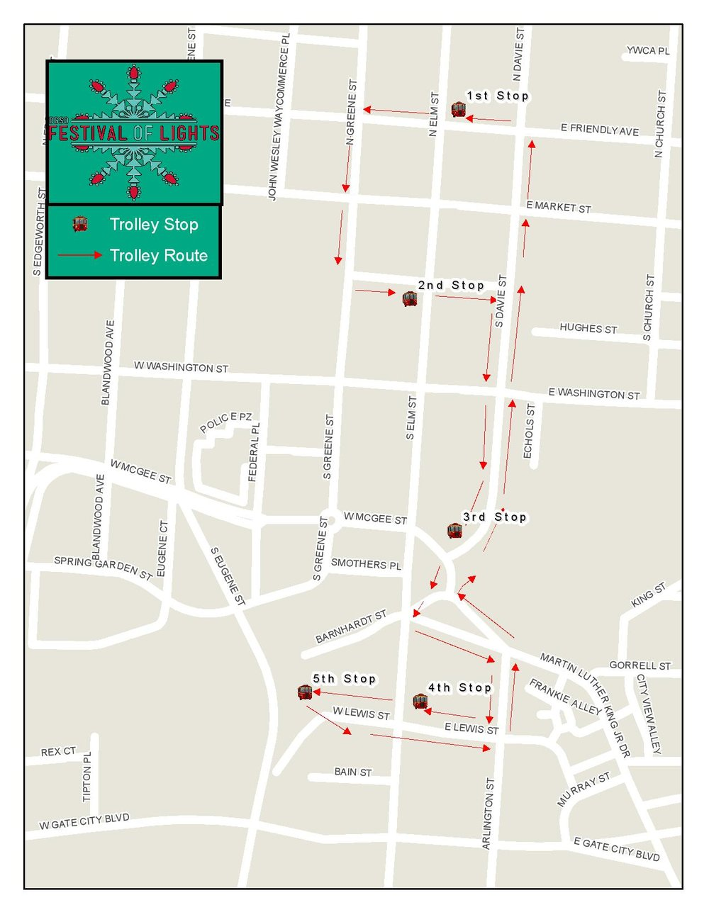Trolley Map