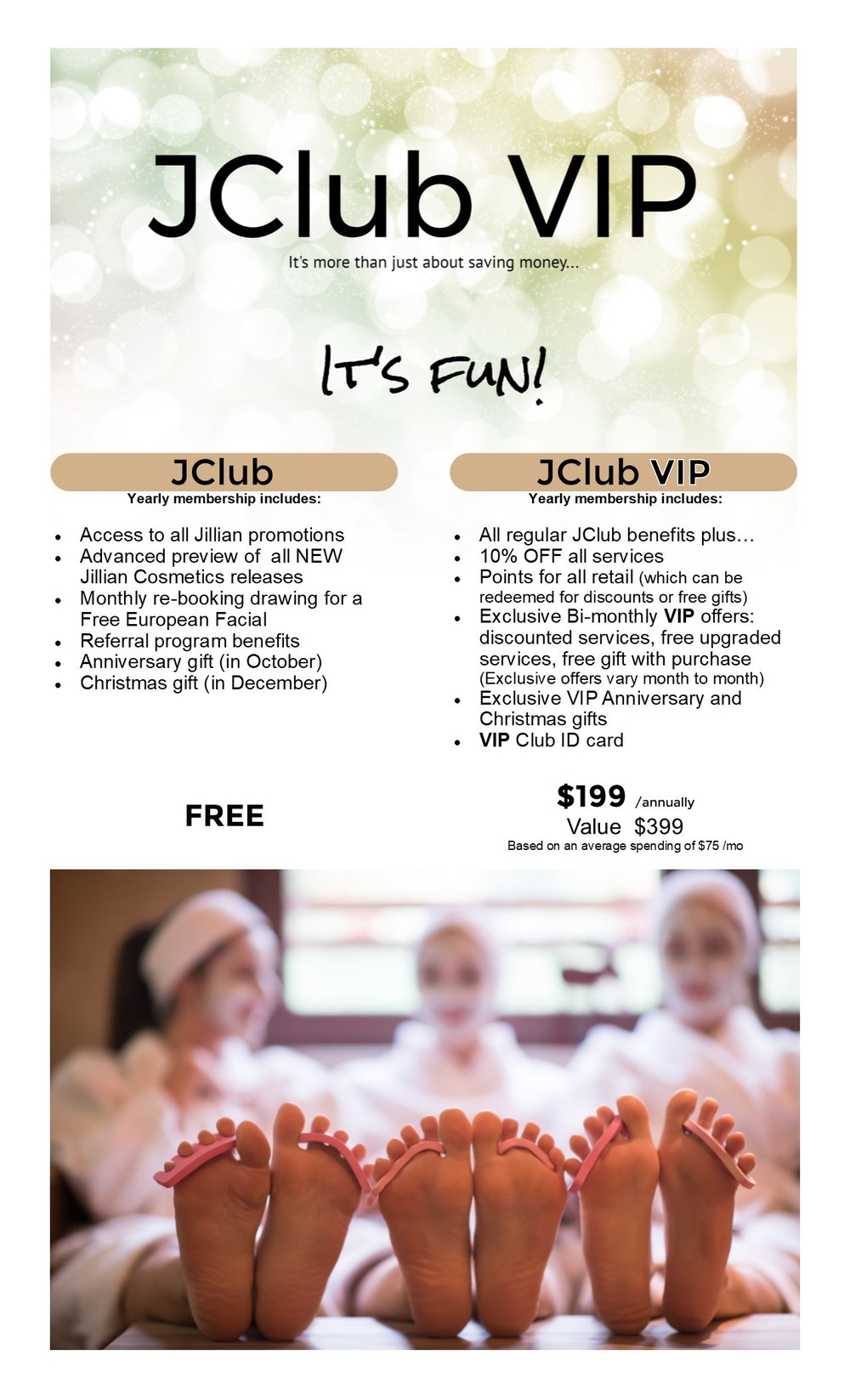 JClub — Jillian Day Spa