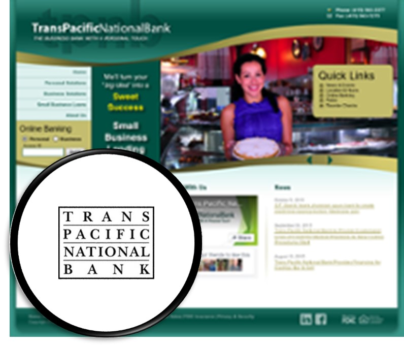 Trans Pacific National Bank - Geographical Focus:San Francisco, California. Impact Summary: 80% assets reinvested into local neighborhood economy. Bank Website:tpnb.com