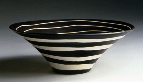 "Lotus Bowl, whiteware,  13""x5"", 2002"