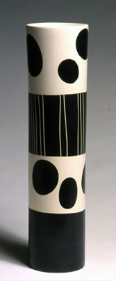 "Tall Cylinder Parfaitt, whiteware, 22""x5"", 2004"