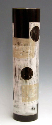 "Tall Cylinder Tri-Color,  5""x23"", 2005"