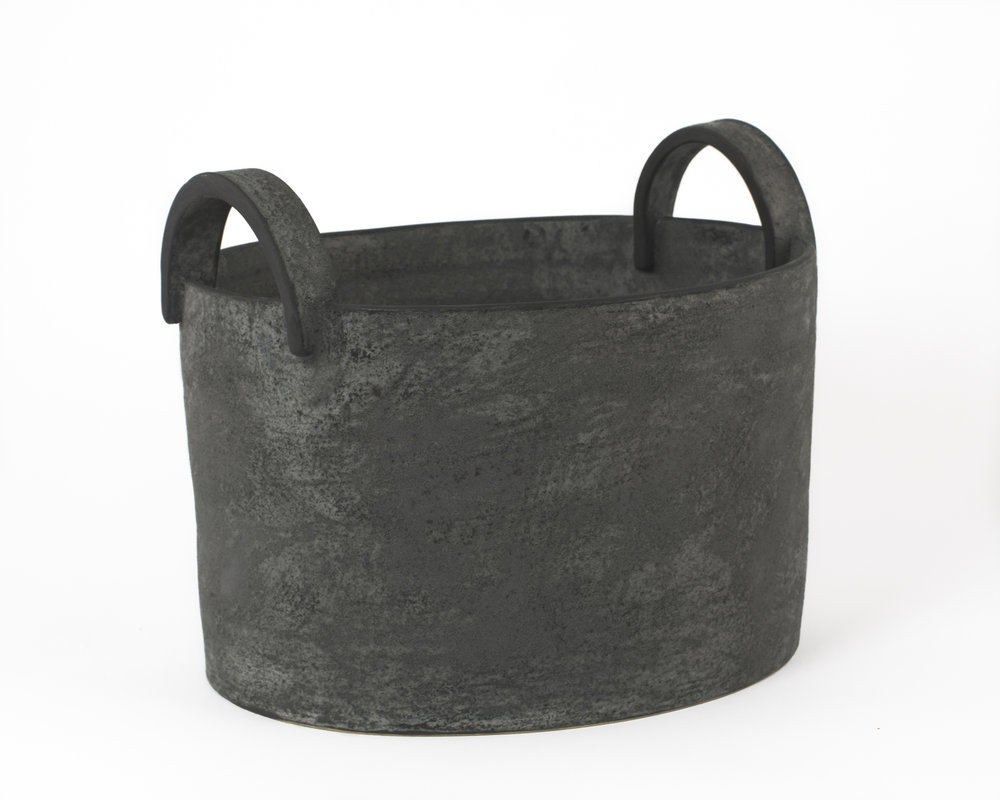 "Charcoal Bucket with Handles     12""x7""x8"""