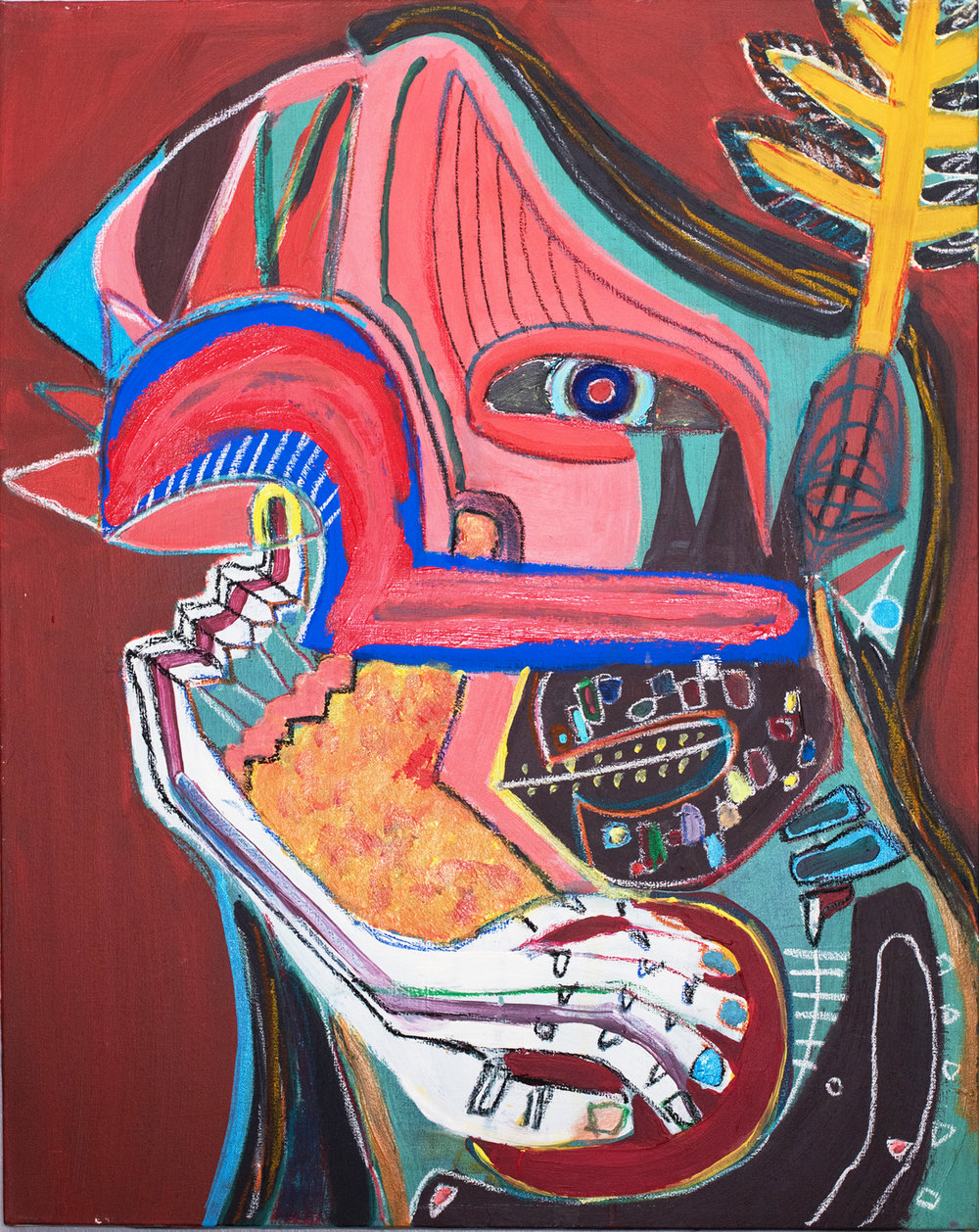 """ self-portrait, Native American ""    24 × 30 in  2015"
