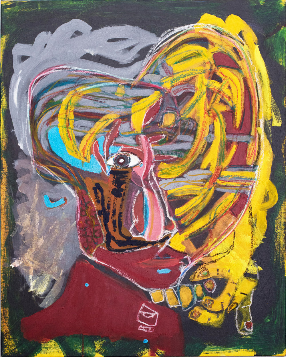 """ self-portrait bipolarity""    24 × 30 in  2015"
