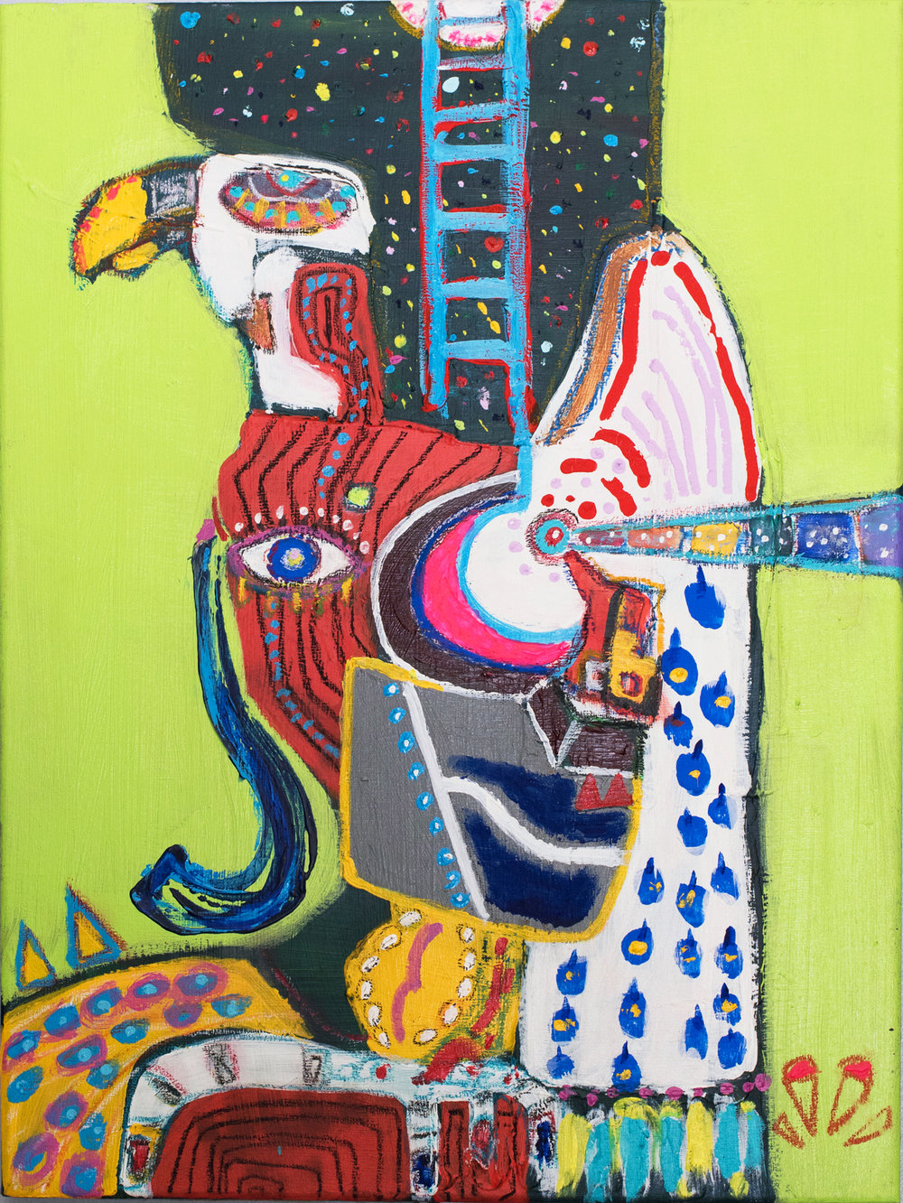 """ self-portrait, Eagle ""    18 × 24 in  2016"
