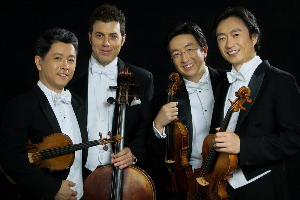 The Shanghai Quartet:  Weigang Li and Yi-Wen Jiang, violins, Honggang Li, viola, Nicholas Tzavaras, cello