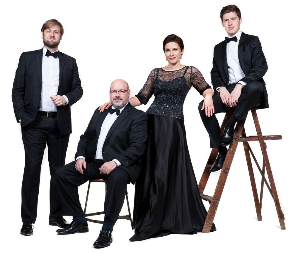 The Indianapolis Quartet:  Zachary DePue and Joana Genova, violins, Michael Isaac Strauss, viola, Austin Huntington, cello