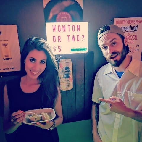 When CTV's @mirandaanthistletv stops by @hilotoronto for late night Wonton's. 😲😎