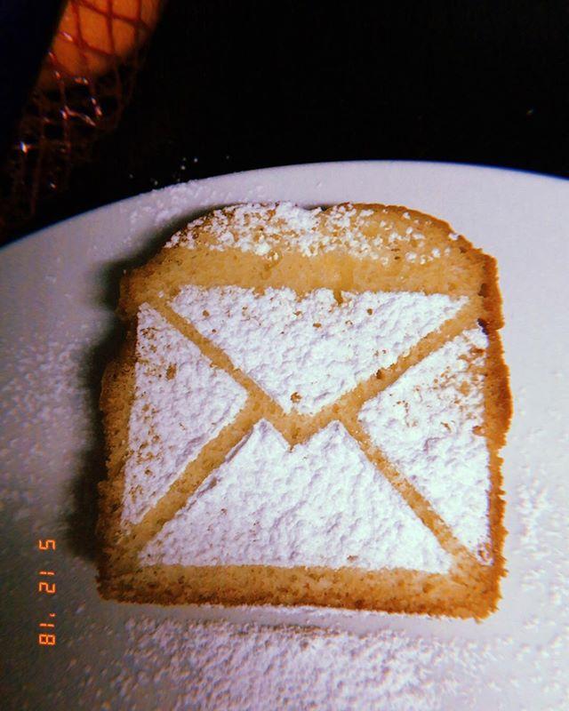 Brief aan de mensheid Cake 💌 Merci Freya #topstagiaire #larflab