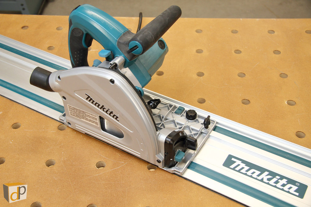 "Makita SP6000 track saw & 55"" guide rail"