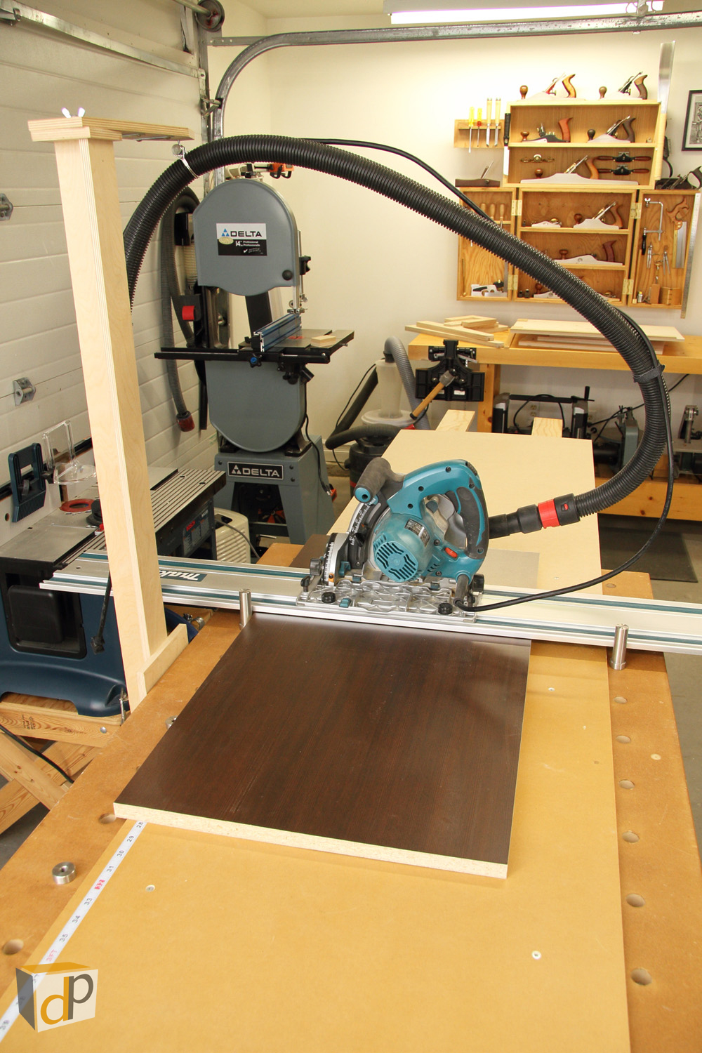 The Makita SP6000 with the MPT Cross-Cut Jig