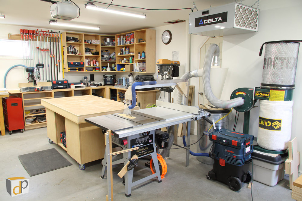 The DP woodworking shop is easy to keep clean with these effective dust collection solutions.