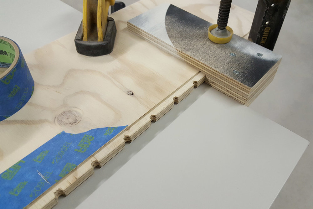 Shelf pin hole jig with stop block - CG&H Builders Inc.
