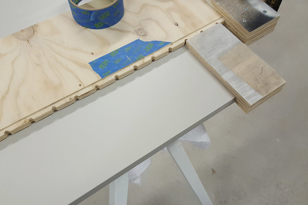 Shelf pin hole jig with spacer block - CG&H Builders Inc.
