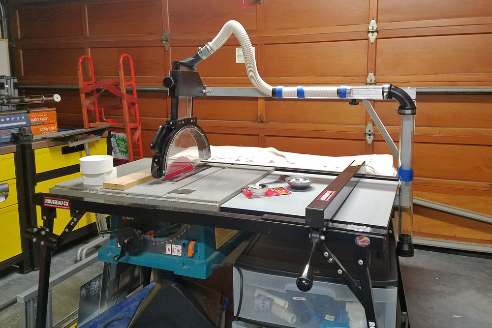 Table Saw Overarm Dust Collector - Ms. Tinker Town
