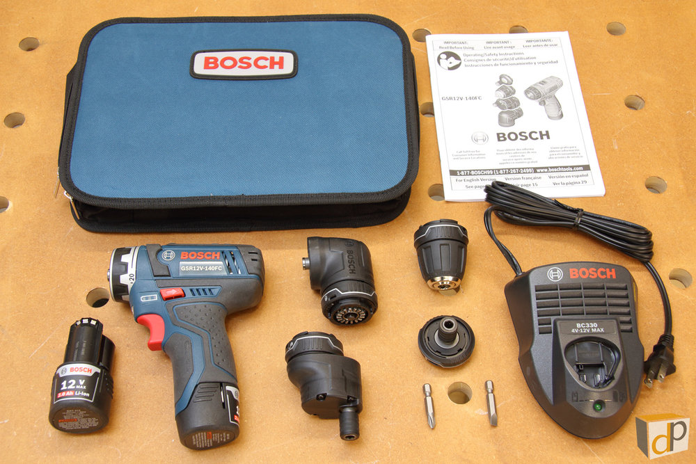 What's Included in the Bosch GSR12V-140FCB22 Flexiclick Kit