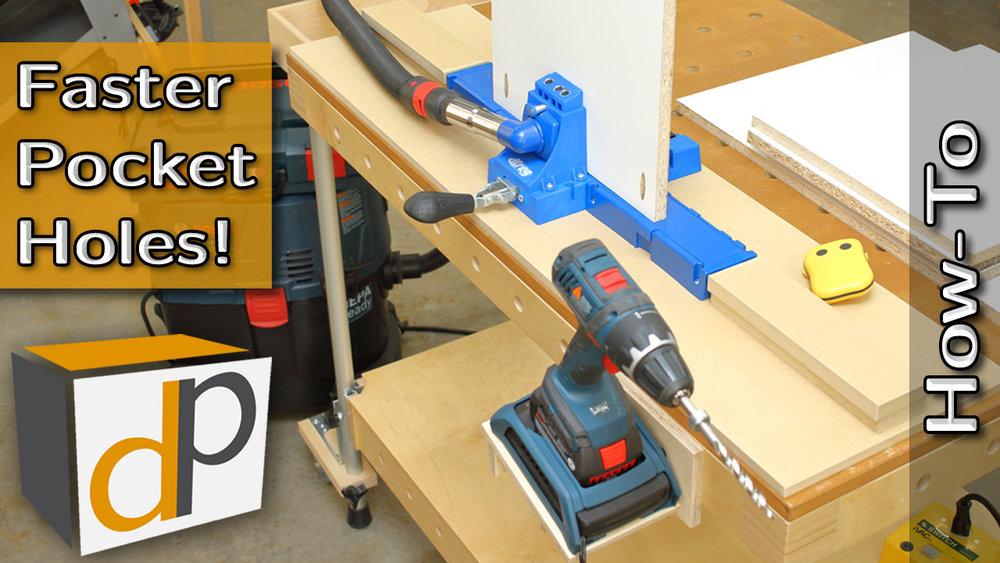 Ultra Efficient Setup for Kreg K5 Jig - Drill Faster Pocket Holes