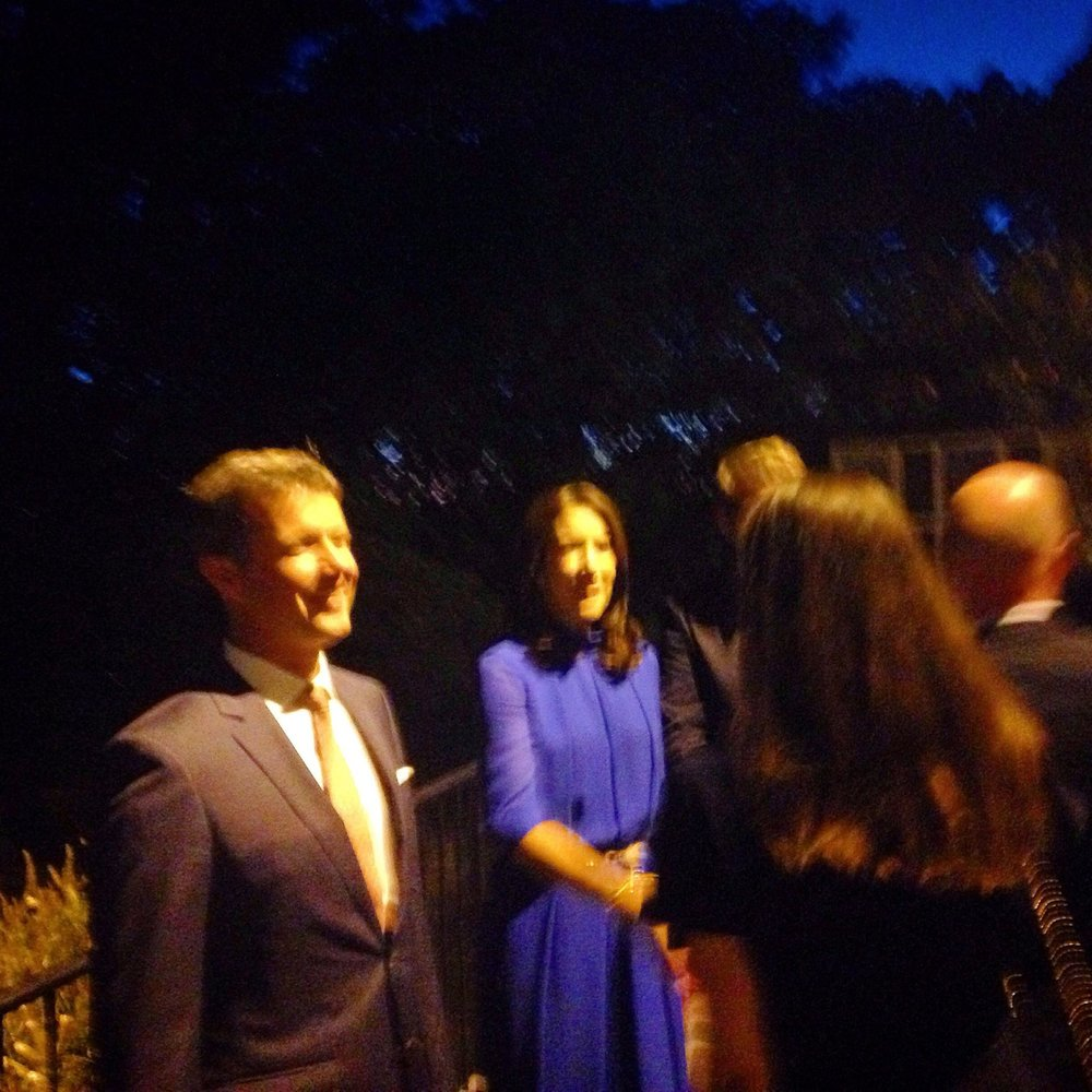 Such an honor having the Danish crown prince Frederik and princess Mary attending the opening reception for the Arts in Embassies program in the Danish Embassy, where I have my paintings exhibited.