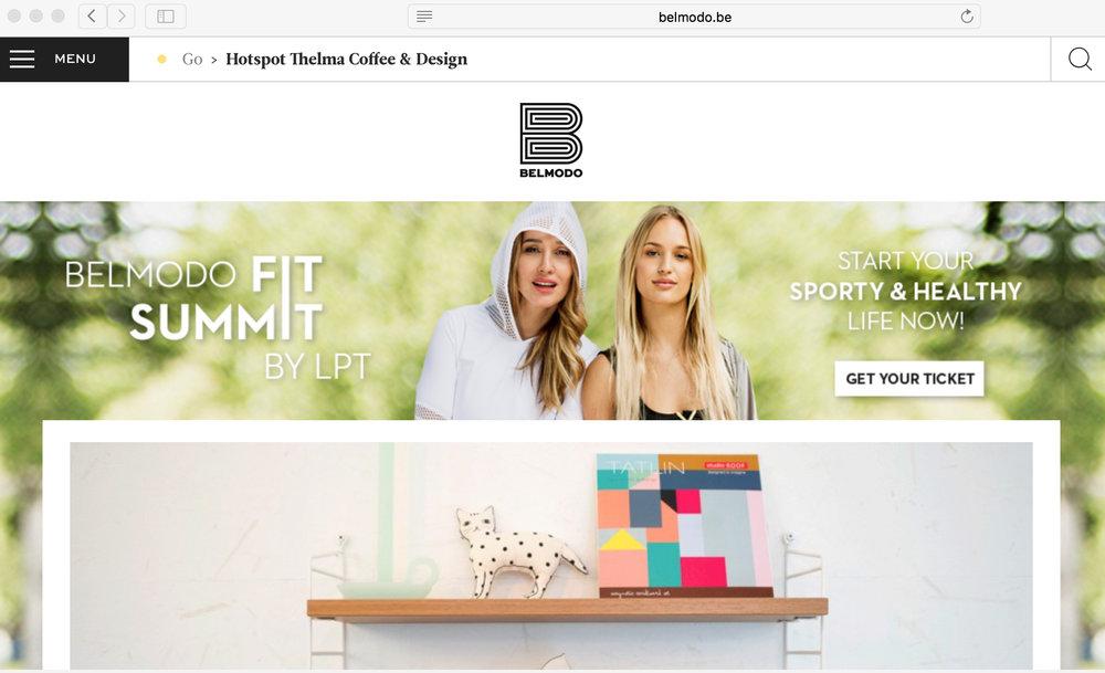 """Belmodo: Hotspot Thelma Coffee & Design    """"J  e kan niet alles hebben. Of toch? Thelma Coffee & Design denkt voluit van wel. Je kan hier koffie drinken tijdens het shoppen voor kleding en interieurartikelen."""""""