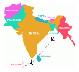 Myanmar Maldives Sri Lanka Trips