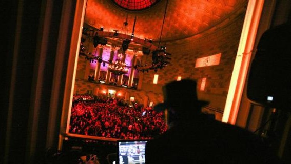 New Jersey/New York DJ Michael Demby entertaining at New Year's Eve at Gotham Hall in New York in midtown