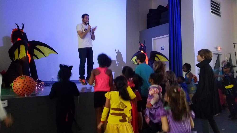 New Jersey/New York DJ Michael Demby entertaining at a a children's event at Hudson Play in Jersey City