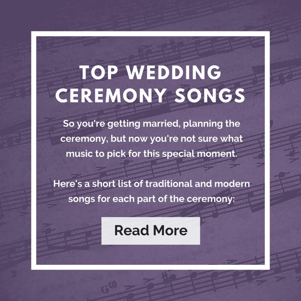 Top Wedding Ceremony Songs