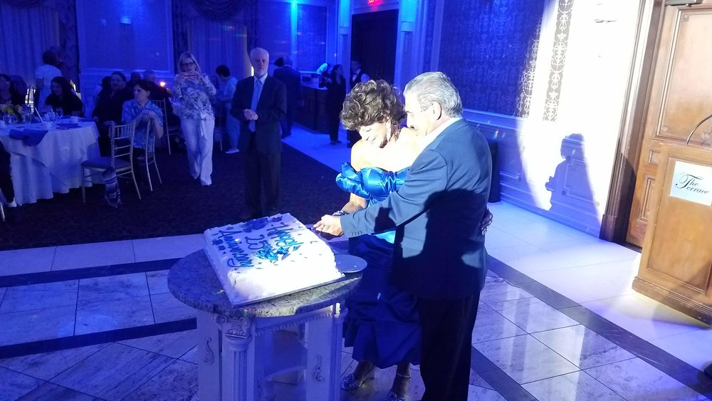 Cake Cutting at 25th Anniversary
