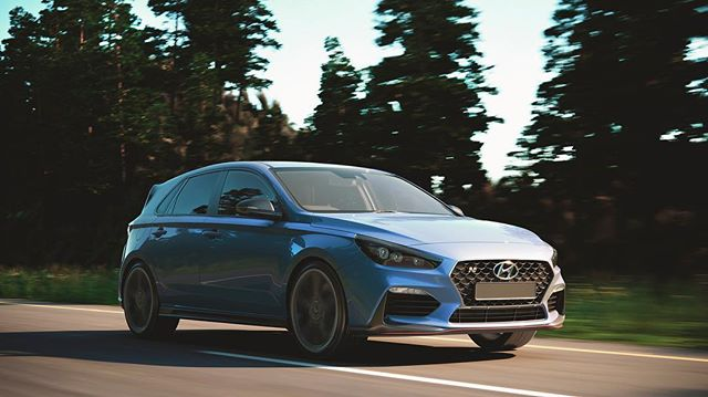 Our latest full CGI test and breakdown. #coronarender #3D #cgi #i30n #hyundai