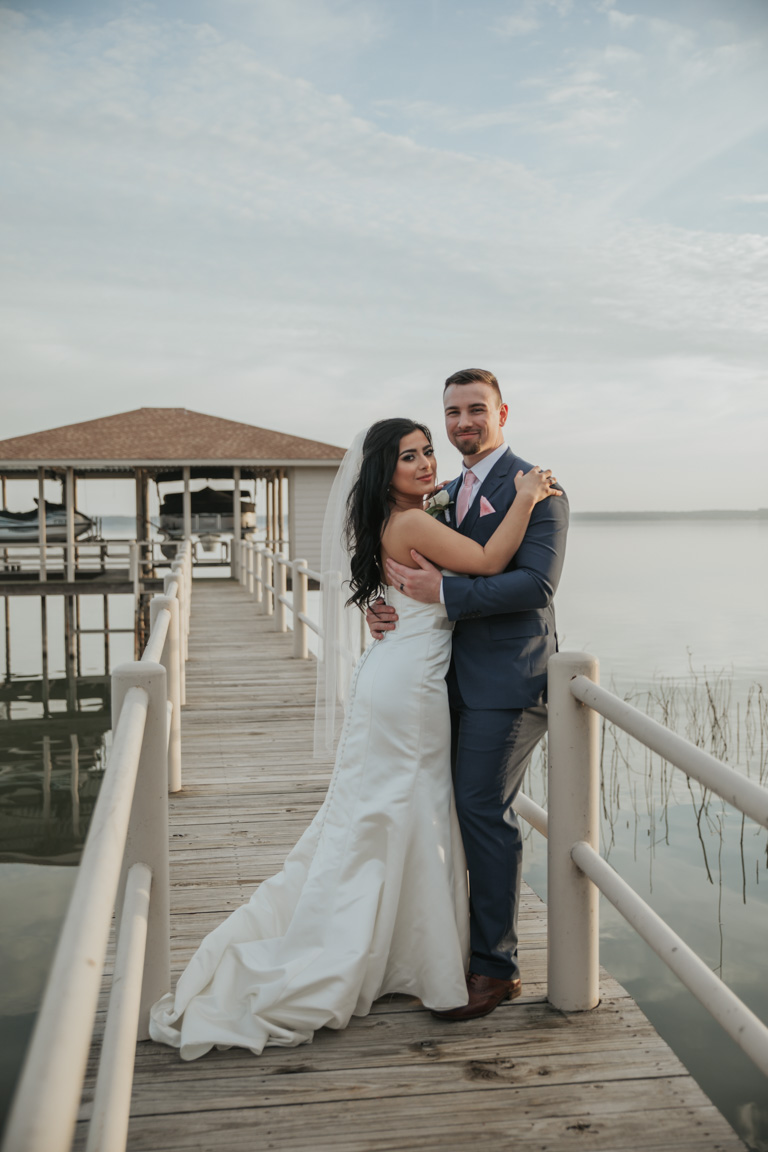 James + Josselyn lake house wedding