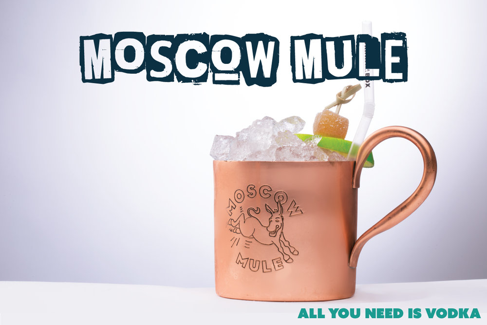 VODKA - The vodka doesn't need to be from Russia to make a Moscow Mule. We like the following styles;Kettle One VodkaAbsolut VodkaRussian Standard VodkaGrey Goose Vodka
