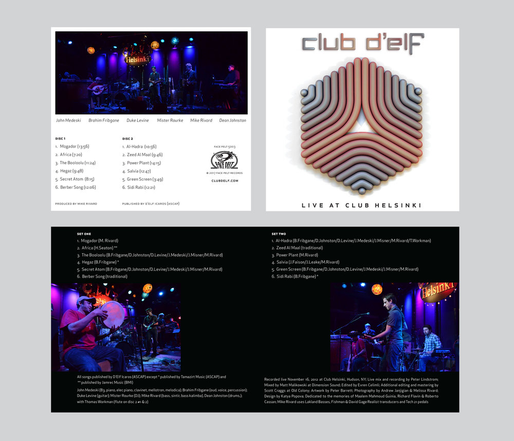 Album design for  Club D'Elf
