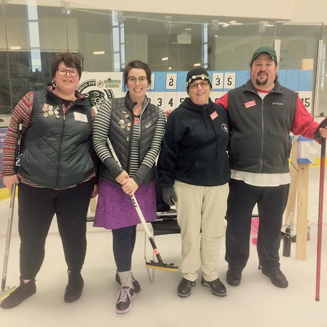 Rutland Dragons at the #mudspiel in Plymouth, New Hampshire #curling802