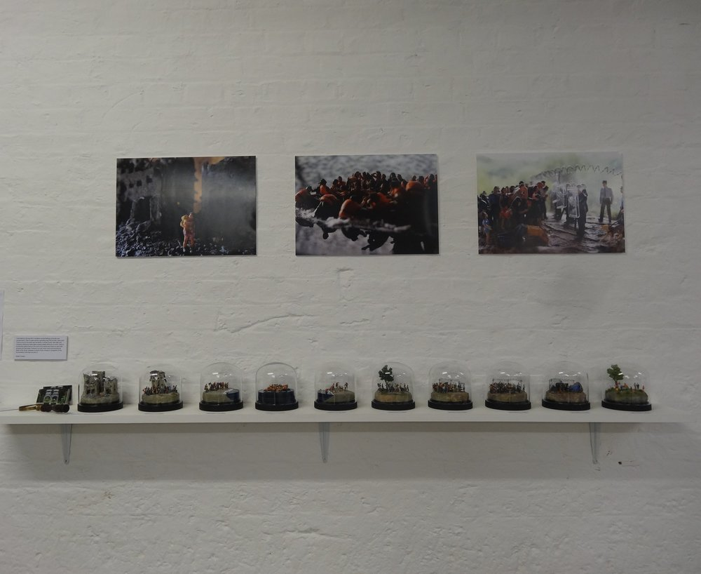 The collection on display at 'The New Artist Fair'