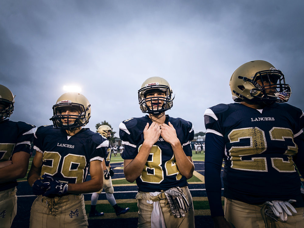 High school football photography