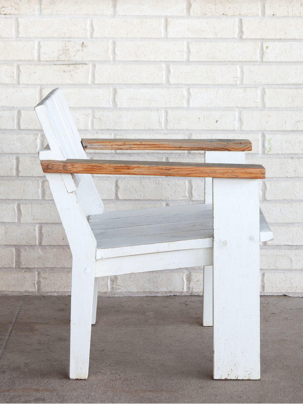 McCray & Co. - St. Philip - Custom Patio Arm Chair, Side View