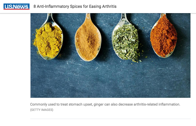 US News: 8 Anti-Inflammatory Spices for Easing Arthritis