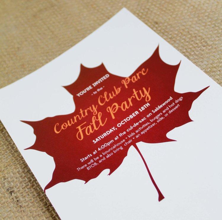 ccp fall party invitations megan wachtman