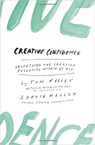 "Creative Confidence by Tom Kelley & David Kelley.  - ""The brothers behind IDEO, a fantastic book for anyone questioning whether they are 'too business' to be creative to 'too creative' to be business. If you read even one chapter, let it be the chapter called Dare.""  - Anjali D'Souza, UX Designer"